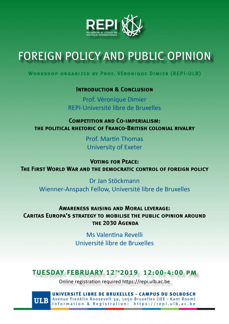 Foreign Policy and Public Opinon