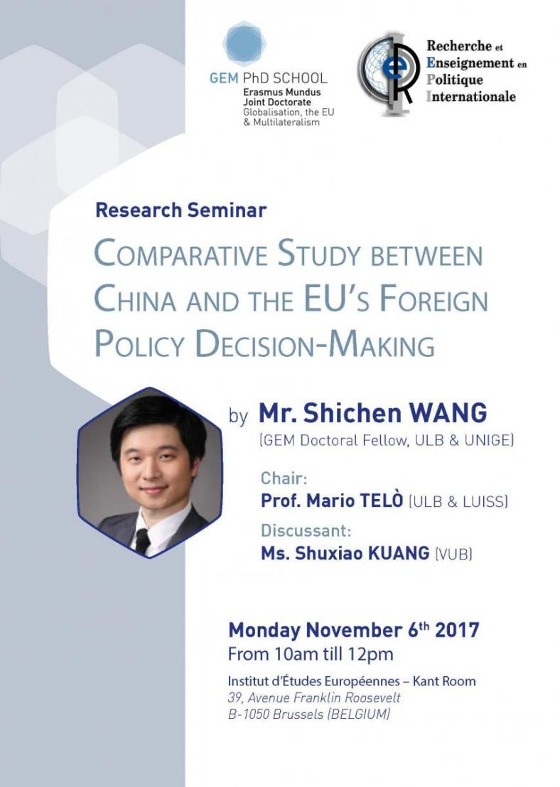 Comparative Study between China and the EU's Foreign Policy Decision-Making